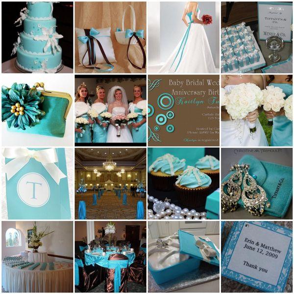 Chocolate Brown Tiffany Blue Wedding Ideas