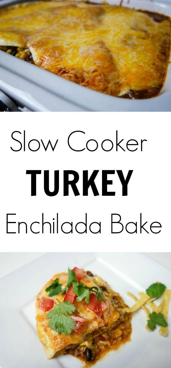 Slow Cooker Turkey Enchilada Bake Pinterest with  all natural #HonestTurkey {Partner}
