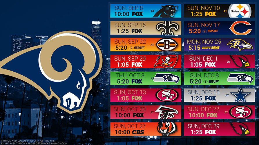 Los Angeles Rams 2019 Desktop Pc City Nfl Schedule Wallpaper Los Angeles Rams Ram Wallpaper Los Angeles