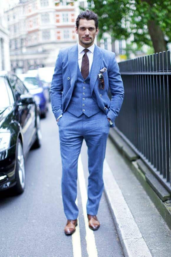 Love This Suit On Him Hellblauer Anzug Blauer Anzug Manner Outfit