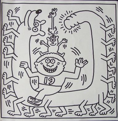 Keith Haring | Kunstkleurplaten | Pinterest | Keith haring, Art ...