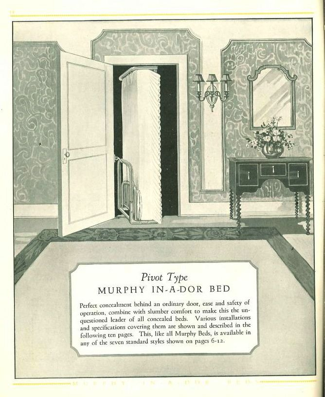 Murphy In A Dor Beds : Murphy Door Bed Co. : Free Download, Borrow
