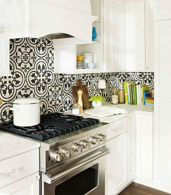 Decorative Tile Backsplash Create A Decorative Kitchen Backsplash With Cement Tiles