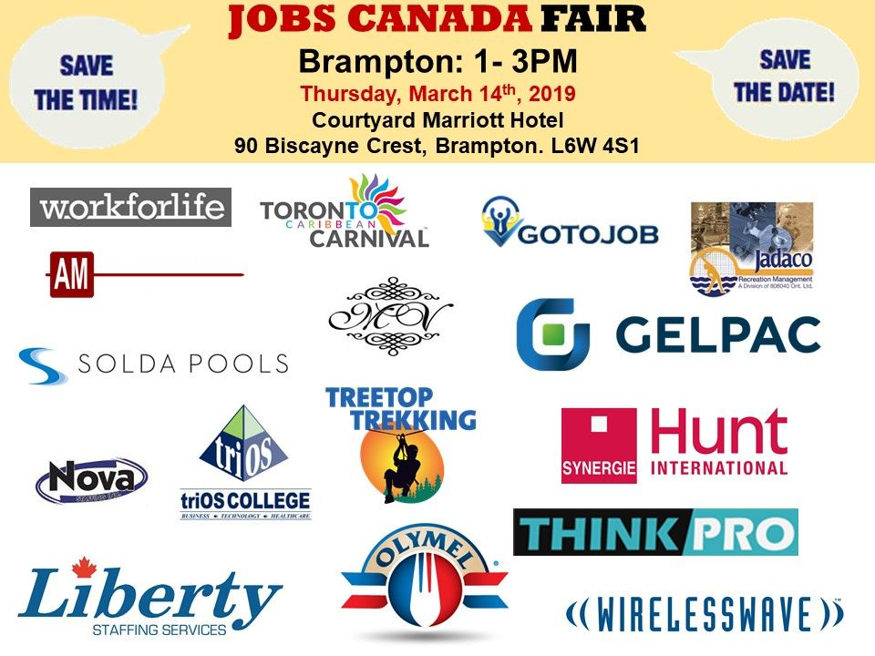 List of hiring companies for bramptonjobfair on march