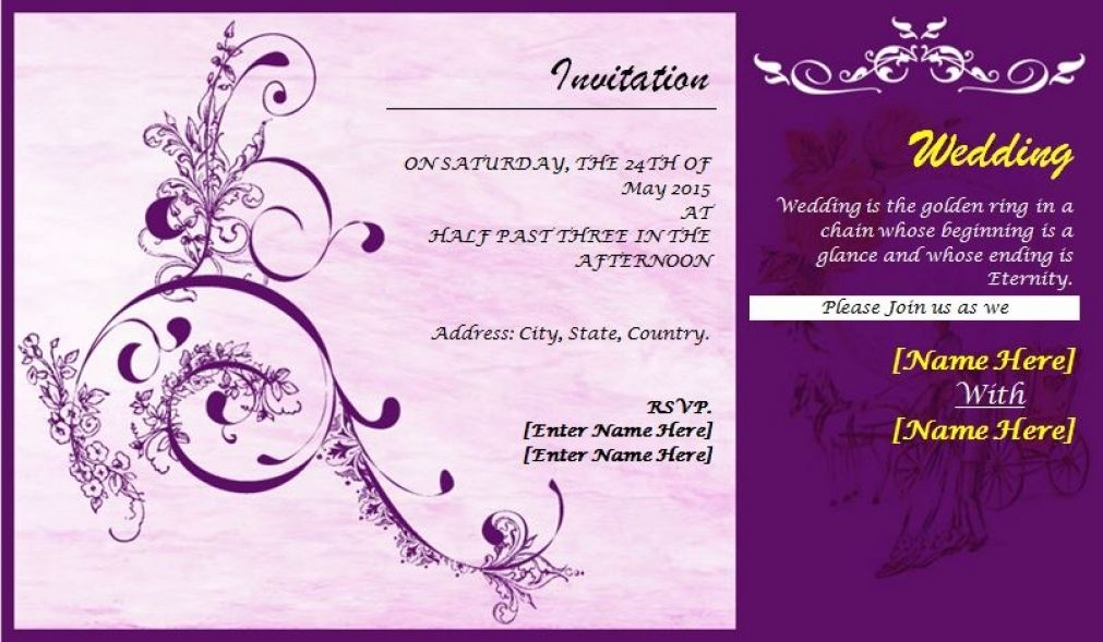 Wedding Invitation Card Design Template Wedding Invitation