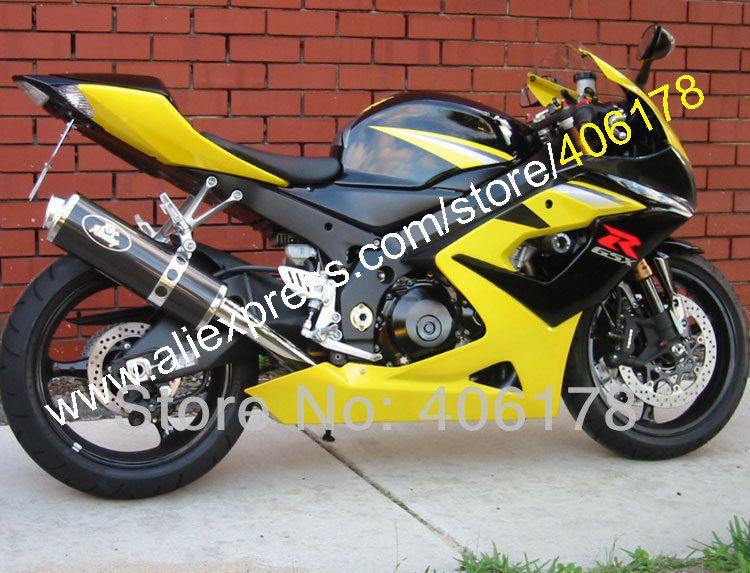 Hot Sales For Suzuki K5 Gsxr 1000 05 06 Gsxr1000 Yellow Black 2005 2006 Gsx R1000 Gsx R1000 Fairing Set Injection Molding Suzuki Gsxr1000 Gsxr 1000 Suzuki