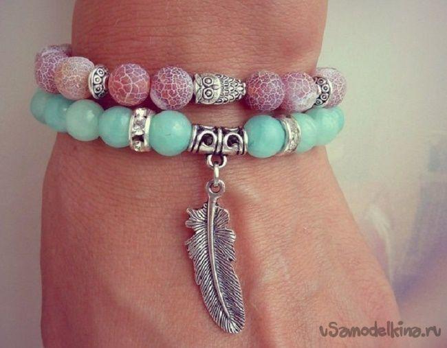 браслеты из натуральных камней своими руками Idea Pinterest