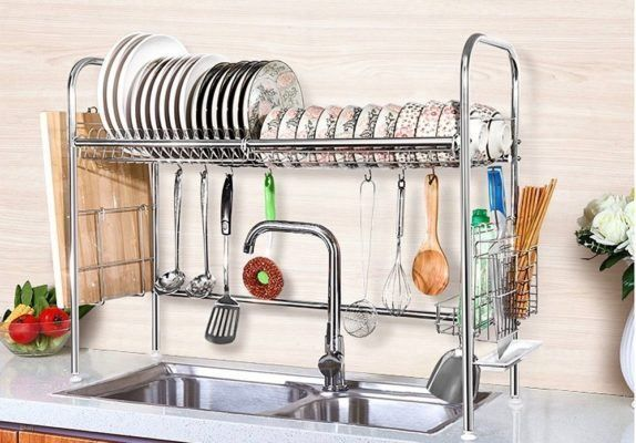 This Is The Best Dish Drying Rack For Small Spaces Dish Storage