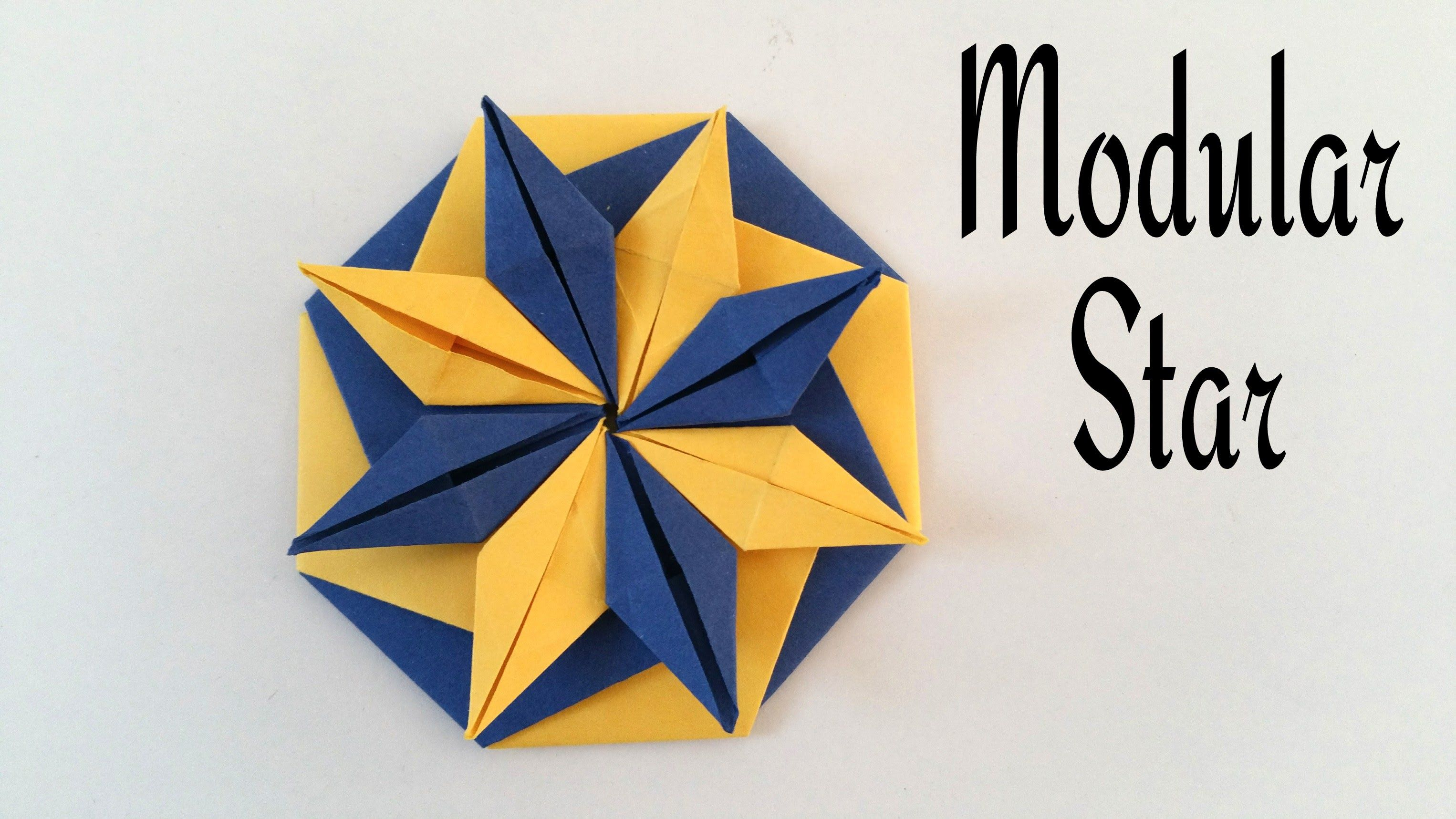 How To Do A Easy Paper Modular Star Of Vibrance Decorative