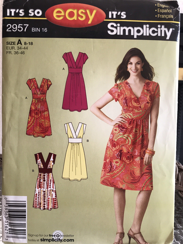 Simplicity Dress Pattern 2957 Etsy Simple Dress Pattern Pattern Dress Women Sundress Pattern [ 3000 x 2250 Pixel ]
