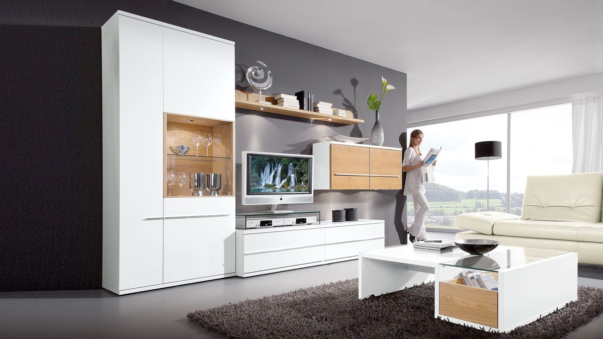 Diese Wohnwand Von Loddenkemper Bringt Moderne Eleganz In Ihr Wohnzimmer Die Möbel Kombinieren Sch Wohnzimmermöbel Wohnzimmermöbel Weiß Wohnzimmermöbel Modern