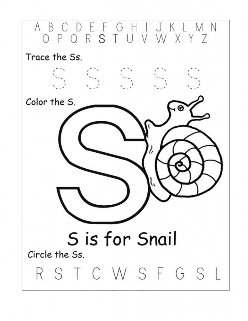 worksheet Trace The Letter S Worksheets free printable worksheets for the letter s kindergarten 17 best images of tracing ss handwriting worksheet and pr