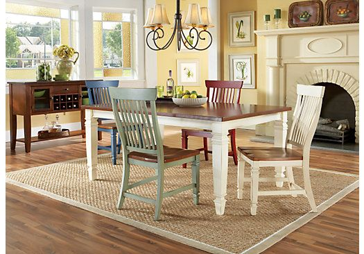 Shop For A Cindy Crawford Home California Cottage Farmhouse 5 Pc Endearing Rooms To Go Dining Room Set 2018