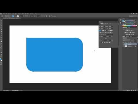 Photoshop Tutorial: CC New Rectangle Corner Radius Options -HD- - YouTube