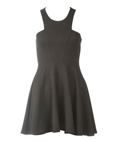 Loving this Black Cutout Dress on #zulily! #zulilyfinds