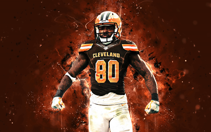 Download Wallpapers Jarvis Landry 4k Abstract Art Wide