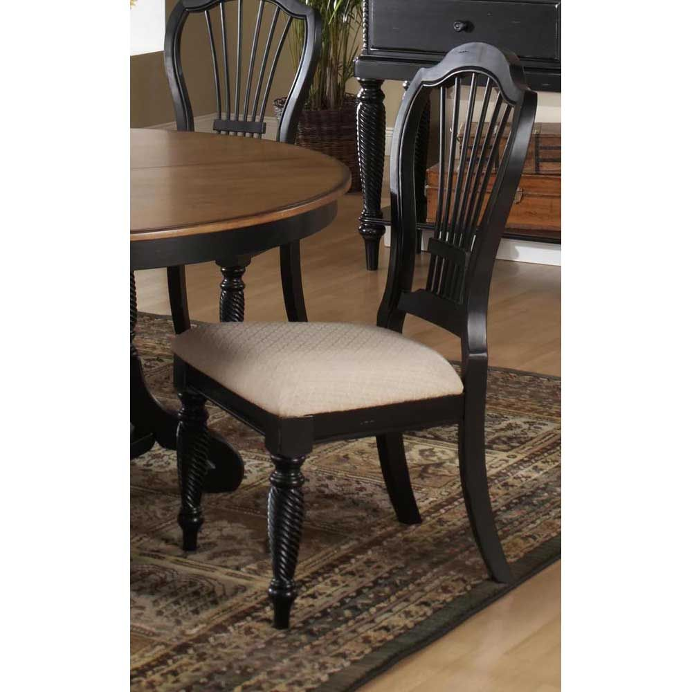 Hillsdale Furniture Wilshire Dining Chairs In Rubbed Black Set Of 2