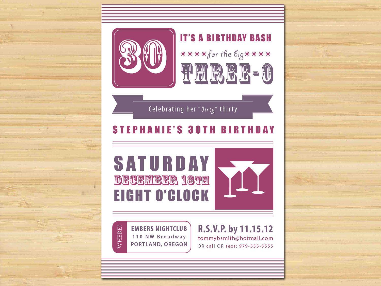 Dirty 30 // Birthday // Birthday Party // Adult // Typography ...