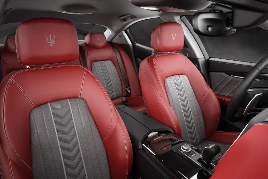 2017 maserati ghibli zegna interior red black grey