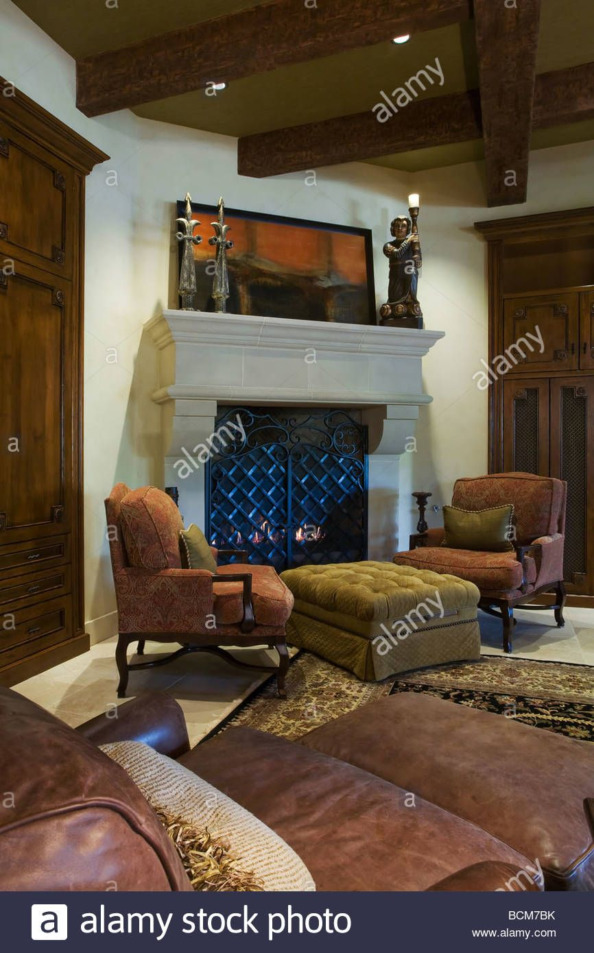 Idea 2 Chairs And Ottoman Or Table In Front Of Built In Wall Unit Comfortable Chair Stone Fireplace Chair And Ottoman