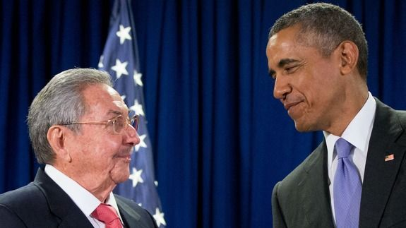 U.S. and Cuban leaders meet in America for the first time in more than 60 years #cubanleader U.S. and Cuban leaders meet in America for the first time in more than 60 years #cubanleader