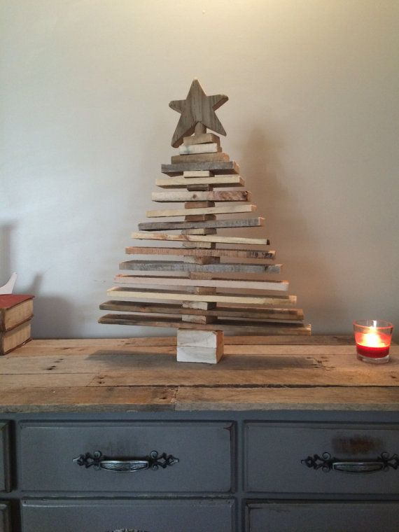 Pallet christmas tree spaced out holiday decor pallet Christmas trees made out of wood