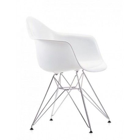 Buy Vitra Eames Plastic Armchair Dar Without Upholstery By Charles Ray Eames 1950 Vitra Eames Chairs White Eames Chair Eames Plastic Chair