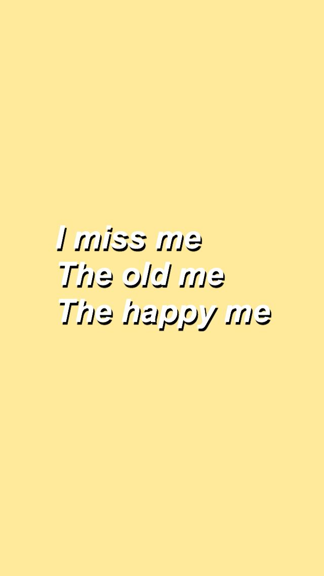 ' i miss me' yellow wallpaper ♡  #yellowaesthetic