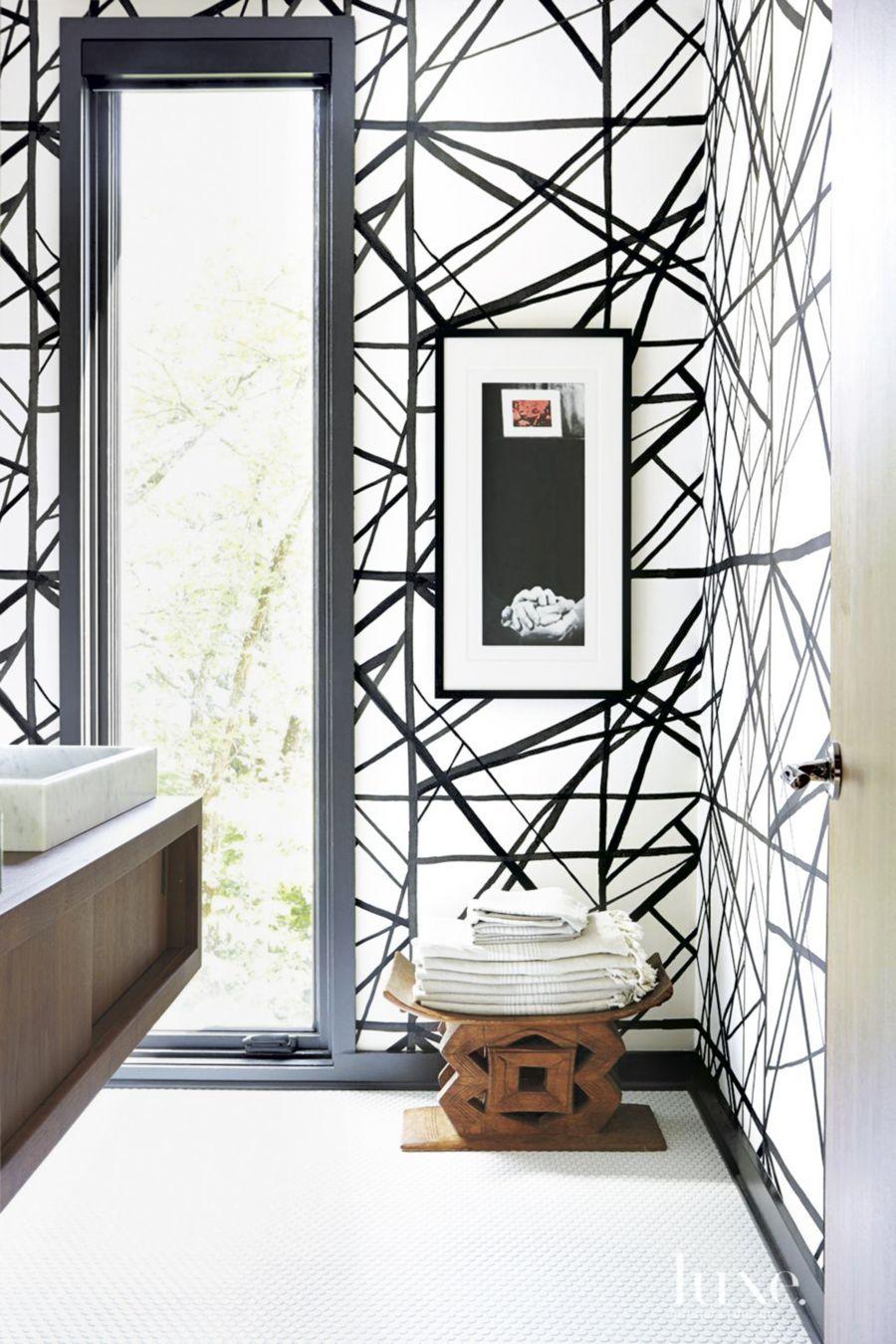 Kelly Wearstler Graphic Wallpaper Luxe Interiors