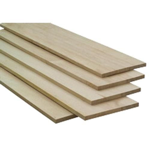 "WALL SHELF: Lowe's, Pine Board, 8' X 12'' X 0.75"" $10.47"