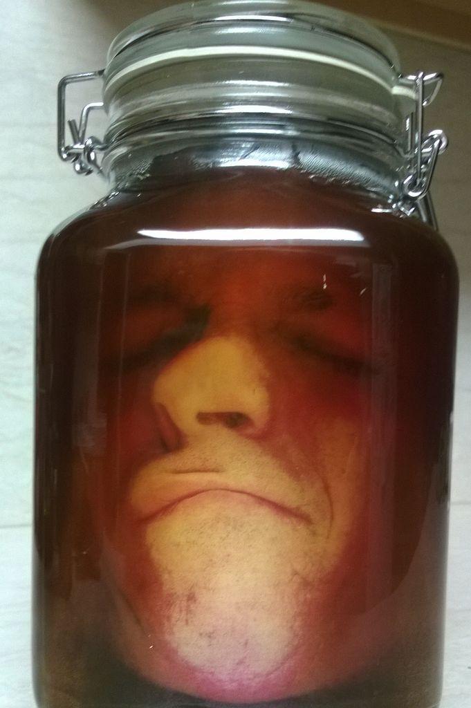 Head in a Jar Prank Jar, Photoshop and Labs
