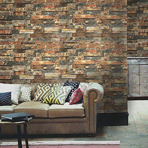 3D Brown Brick Wall L115 Removable Wallpaper Self Adhesive Wallpaper Extra Large Peel /& Stick Wallpaper Wallpaper Mural AJ WALLPAPERS