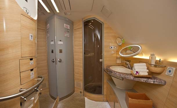 Sigh Luxurious Bathroom In Airbus A380 Emirates Airline