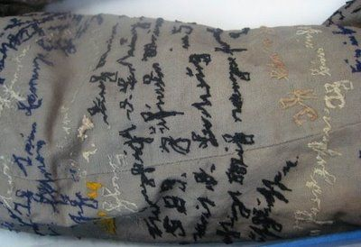 agnes richter, a patient in a mental asylum in austria in the 1890's, spent her days embroidering text on to the jacket of her hospital uniform