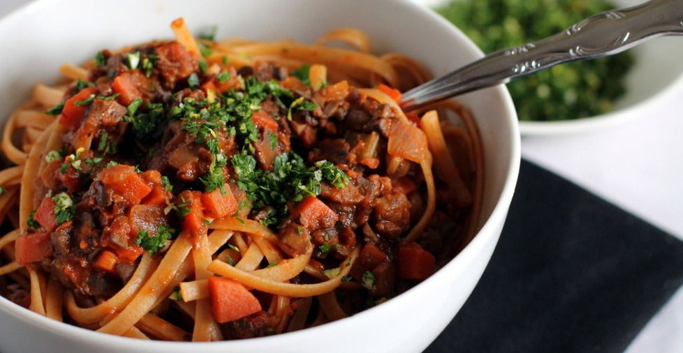 Mushroom Bolognese with Gremolata - Chef Colleen McConnell