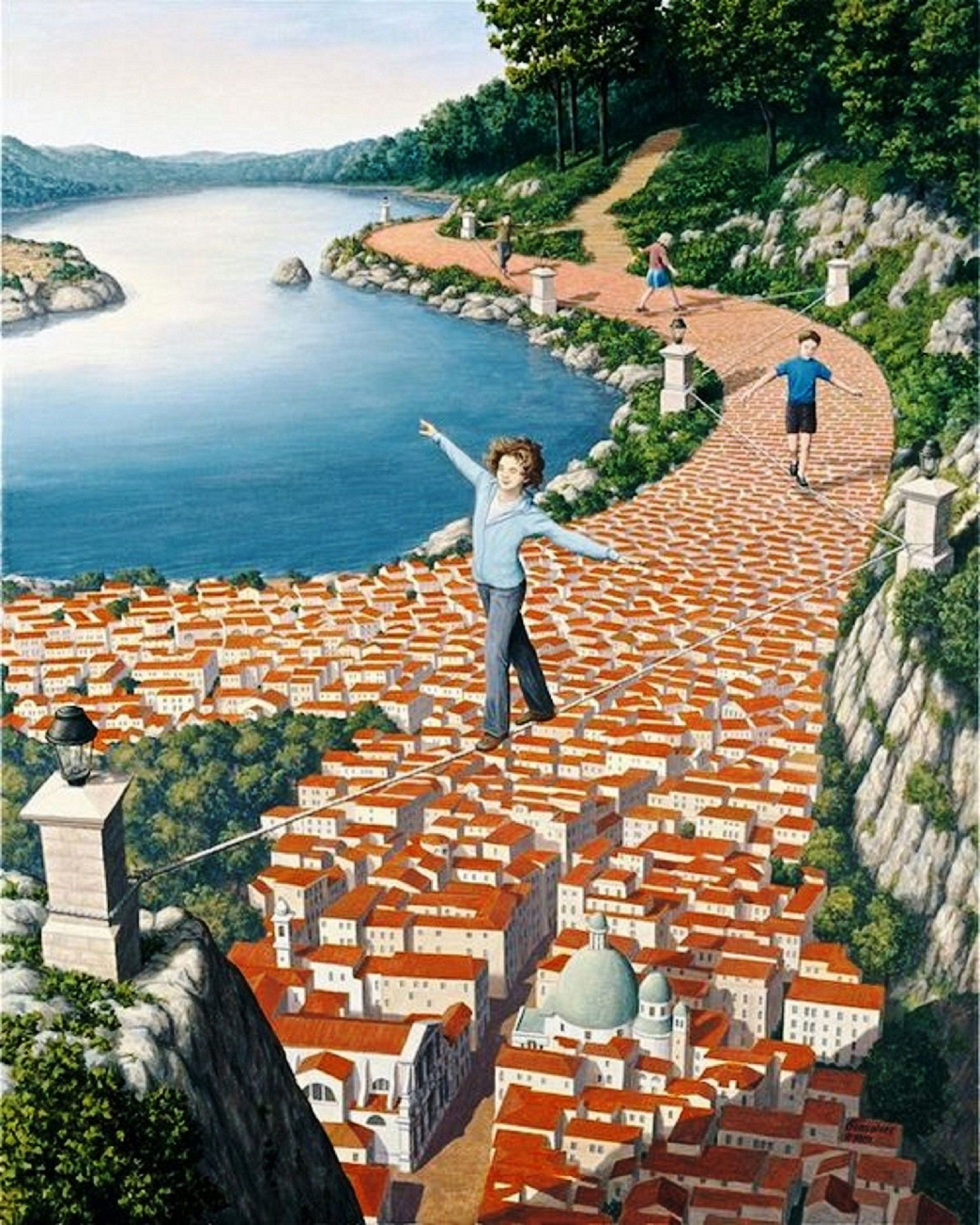 Captivting Magical By Rob Gonsalves Mind Twisting Optical Illusion