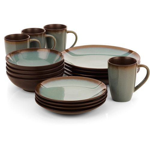 dishware sets | Hometrends Lagoon 16-Piece Dinnerware Set - Walmart.com  sc 1 st  Pinterest & dishware sets | Hometrends Lagoon 16-Piece Dinnerware Set - Walmart ...