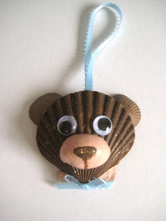 Teddy Bear Ornament by Lorishellart on Etsy, $8.00