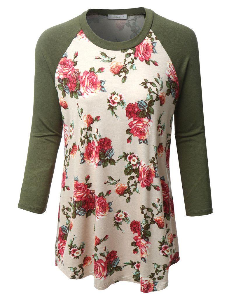 Flower Print Shirts for Women
