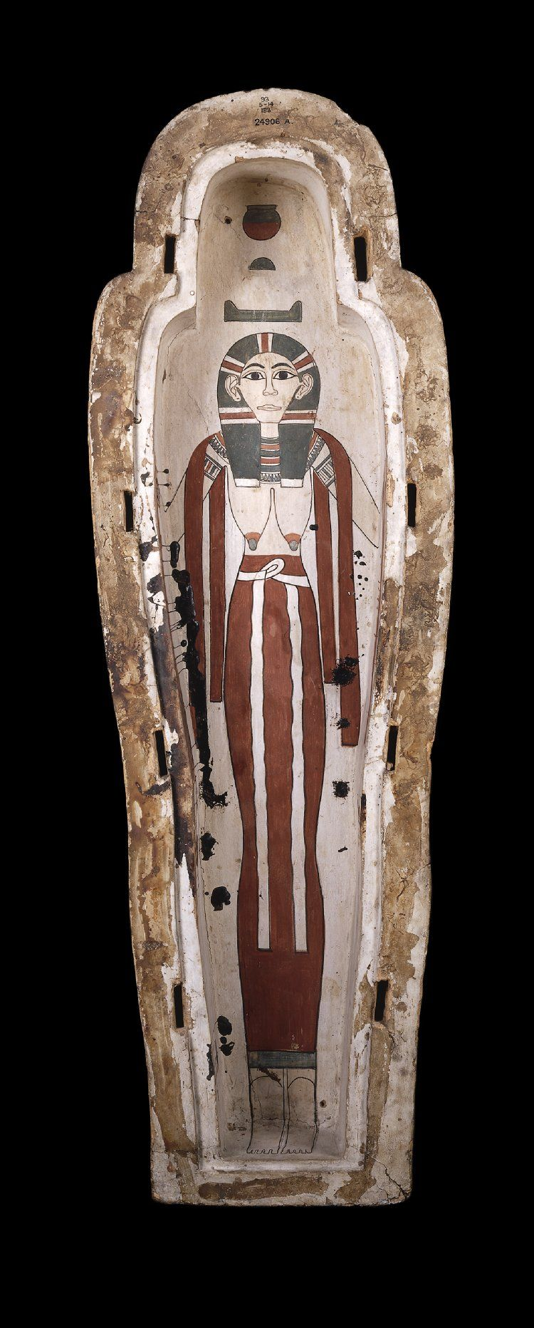 Interior of base of the polychrome wooden coffin of Pensenhor, a Libyan who settled in Egypt. 22nd dynasty, c. 945-715 B.C. | The British Museum