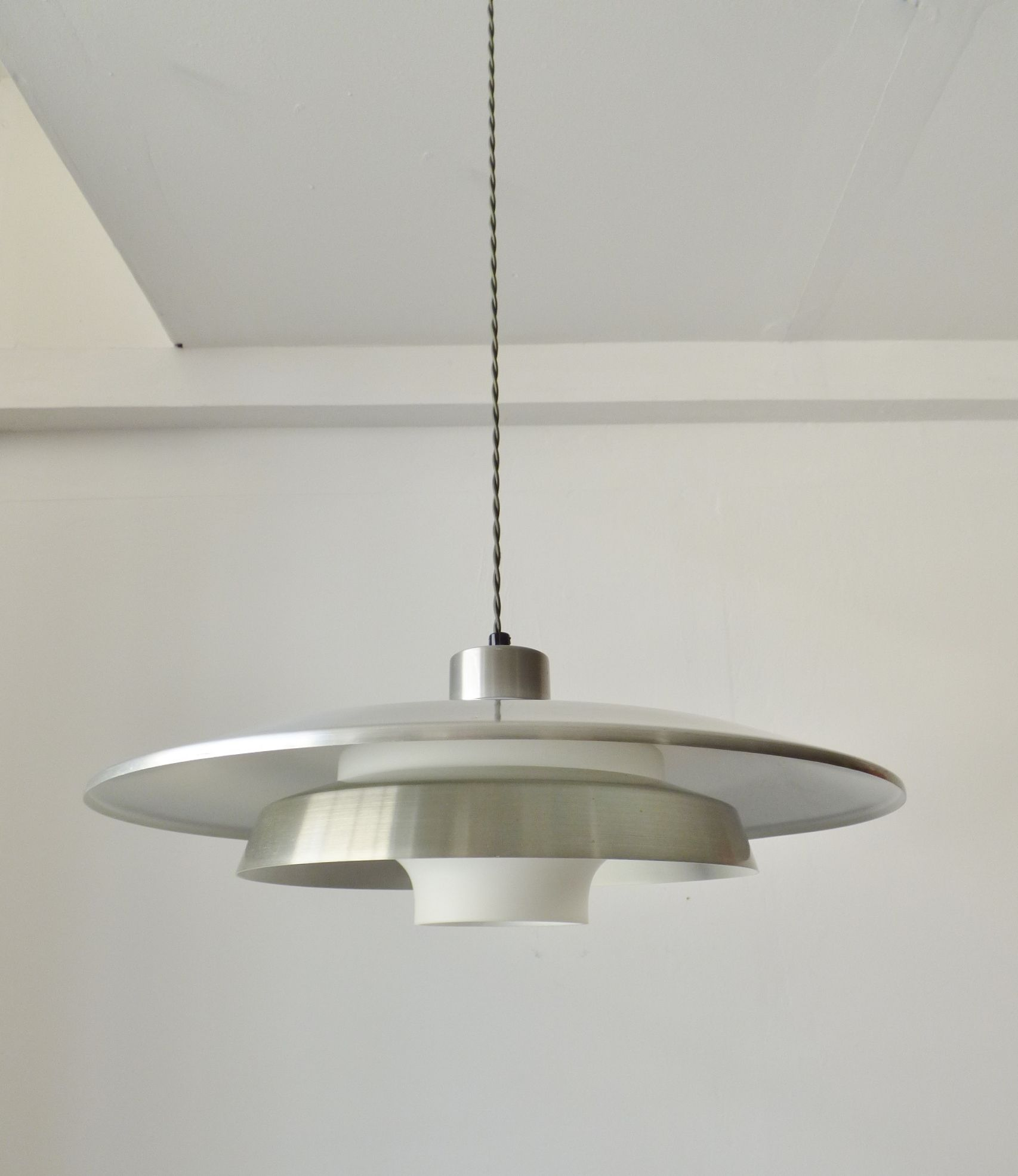 Scandinavian light fixtures best 20 scandinavian lighting ideas on scandinavian light fixtures 1960s scandinavian glass and aluminium pendant light vintage arubaitofo Image collections