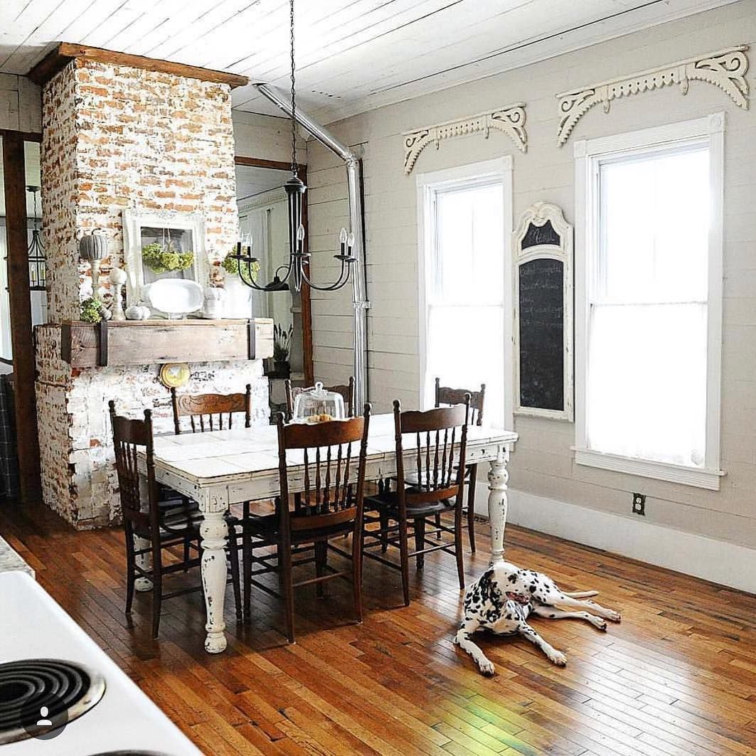 Pin by A Le on Entertaining Old houses, Home, Brick and wood