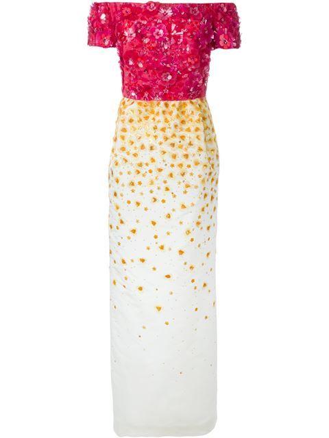 9a1767613eb OSCAR DE LA RENTA Off-Shoulder Embellished Gown.  oscardelarenta  cloth   gown