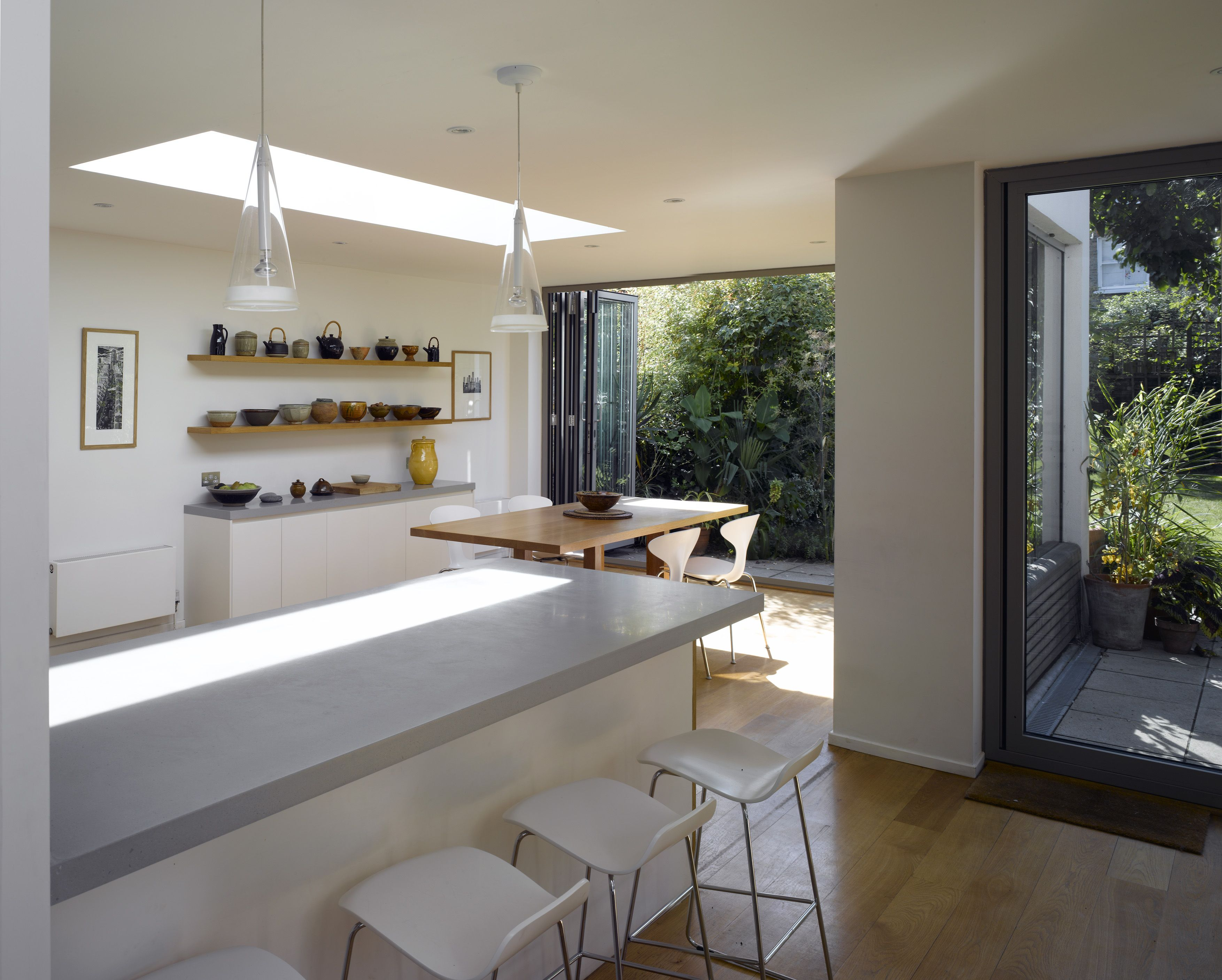 Glazed Rear Wall Extension In Tooting Open Plan Kitchen Dining Kitchen Extension Kitchen Inspirations