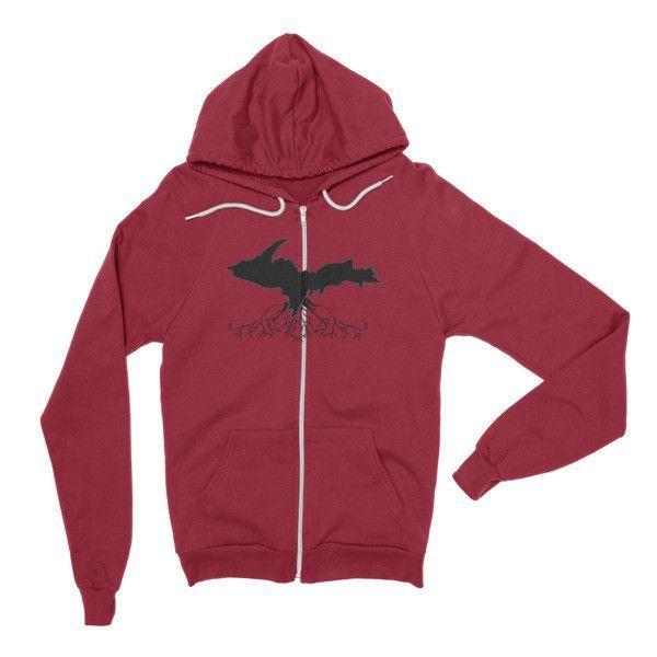 Roots Zip Hoodie (Unisex) Black Design