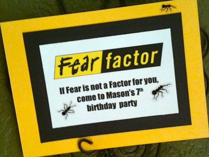 Fear Factor Birthday Party Fear Factor Party Pinterest – Fear Factor Party Invitations