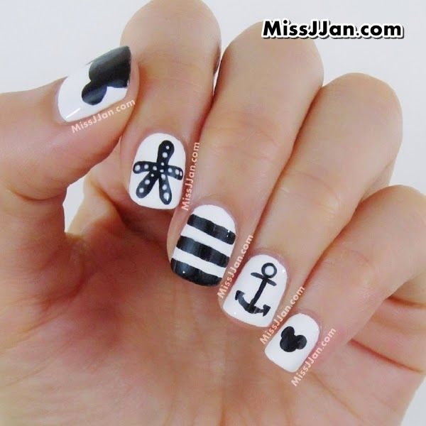 ♥ Manicure Monday ♥ Tutorial - Disney Mickey Mouse inspired ...