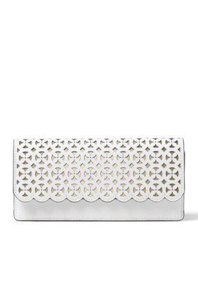 7ea5abc62ab4 MICHAEL Michael Kors Optic White Desi Flat Wallet | Products | Bags ...