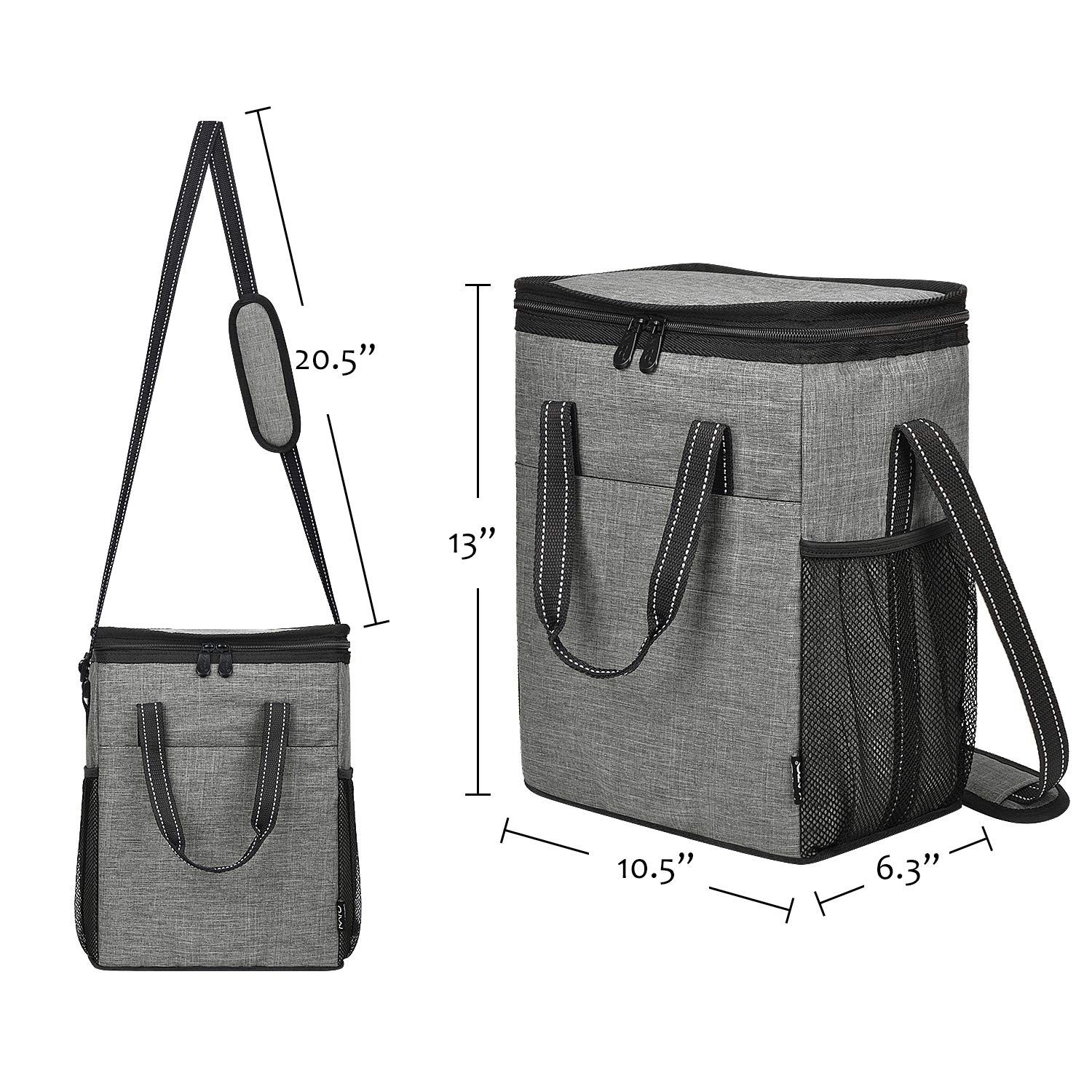 Kato 6 Bottle Wine Carrier Insulated Leakproof Padded Wine Cooler Carrying Tote Bag For Travel Camping And Picni Gifts For Wine Lovers Wine Carrier Wine Lovers