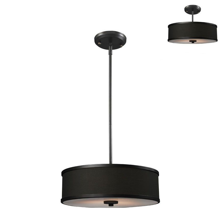 shop z lite 15 5 8 in w cameo pendant light with fabric on lowes paint sale today id=82909